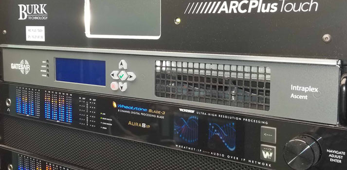 Intraplex Ascent Gates Air system in a rack unit