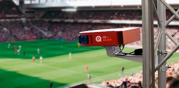 IQ XCAM automated sport system by Mobile Viewpoint producing a soccer match