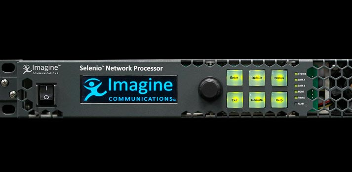 Close view of a Selenio Network Processor by Imagine Communications