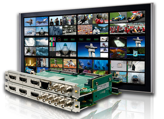Imagine Communications devices for master control along a multi-screen display