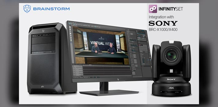 Brainstorm and Sony alliance with InfinitySet and PTZ cameras