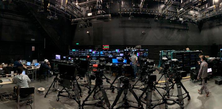 CCTV studio full-IP with Lawo equipment