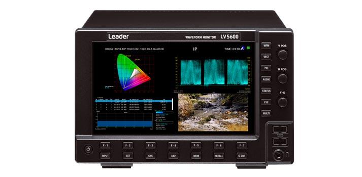 Waveform monitor of Leader. Model: LV5600
