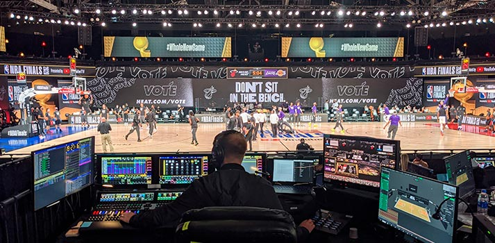 Led screens at NBA Bubble powered by disguise solutions