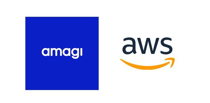 Logo of Amagi and AWS