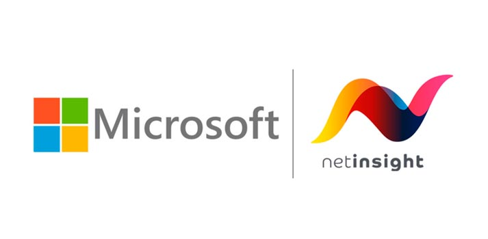 Logos of Microsoft and Net Insight
