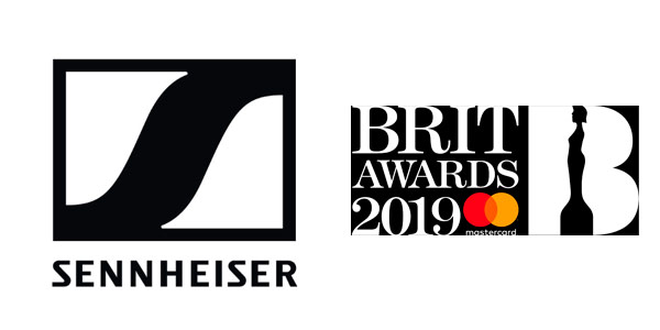 Logo of Sennheiser and the 2019 edition of the Brit Awards