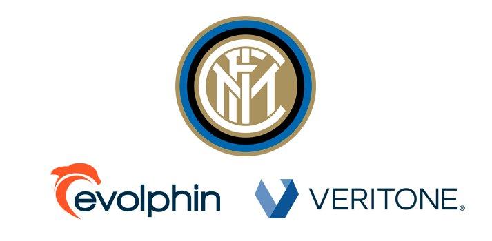 Logos: Internazionale Milano, Evolphin and Veritone