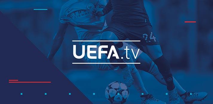 Logo of UEFA.TV, an OTT Platform by UEFA