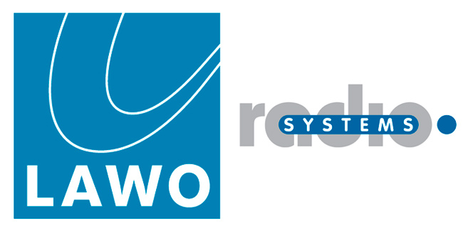Logos of Lawo and Radio Systems
