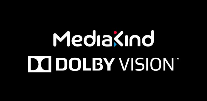 Logos of MediaKind and Dolby Vision