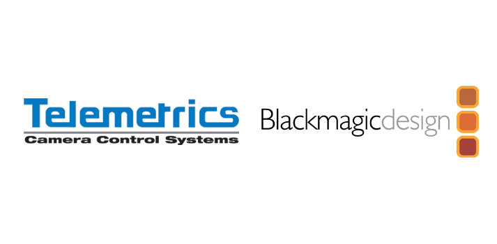 Logos of Telemetrics and Blackmagic Design