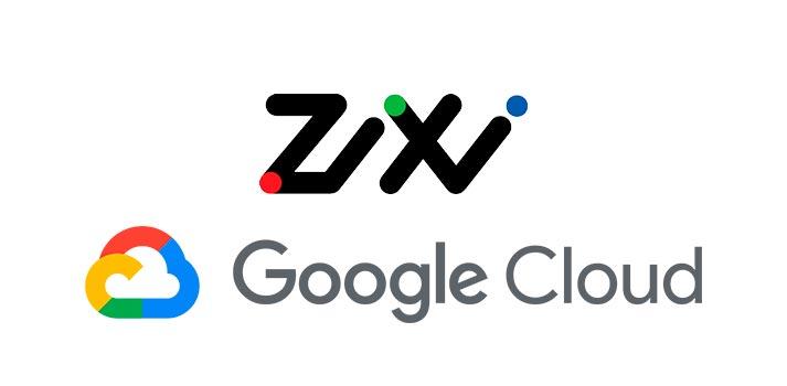 Logos of Zixi and Google Cloud