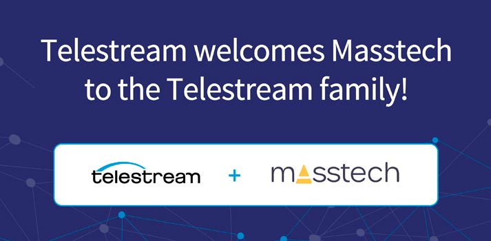 Logos of Telestream and Masstech