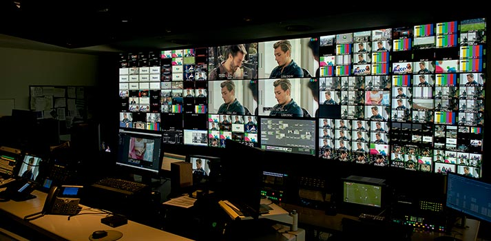 Playout control room at Telefe