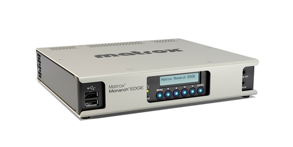 Front view of the Monarch Edge Encoder by Matrox