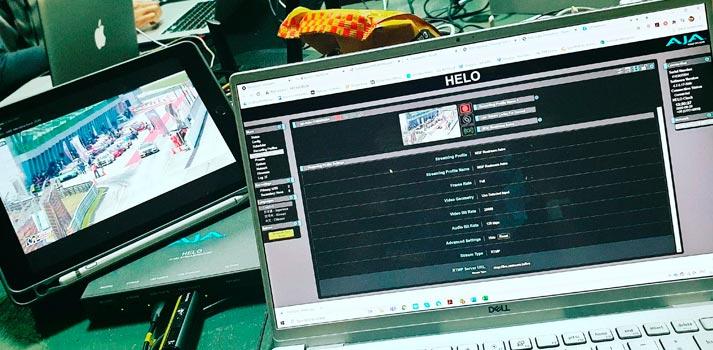 Merdeka Race 2020 production - Control Room - AJA HELO User interface web