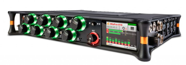General view of the MixPre-10T by Sound Devices