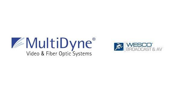 Logos of Multidyne and Wesco broadcast