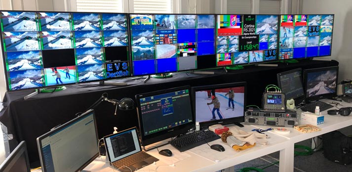 Multiview room at FIS Alpine World Ski Championships
