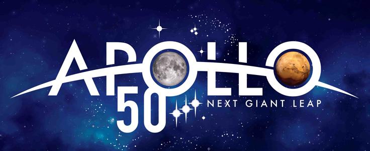 Logo of the NASA TV Apollo 11 50 anniversary program