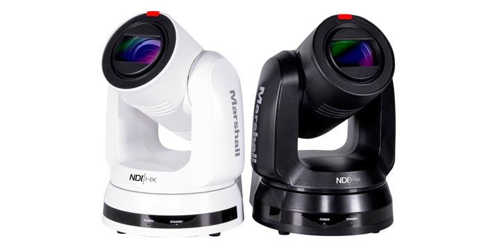 Black and white Marshall Electronics 4K camera