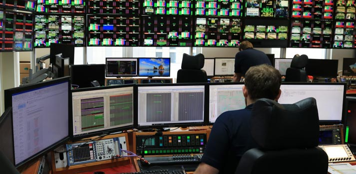 NEP Connect team working in a control room