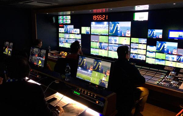 Control room of a NVP control room