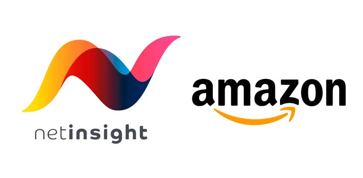 Logos of Amazon and Net Insight