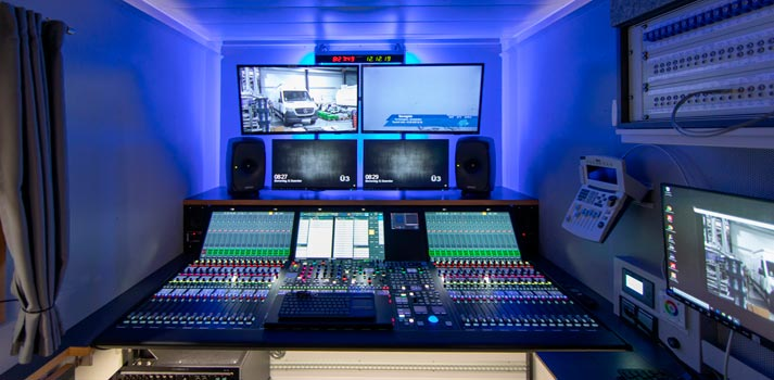 Inside new radio OB Van for WDR by Broadcast Solutions