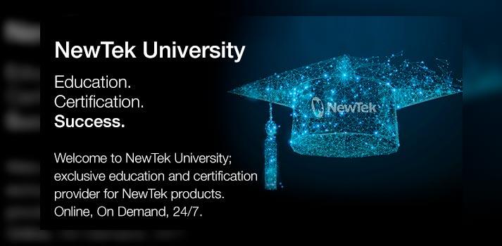 Announcement of NewTek University