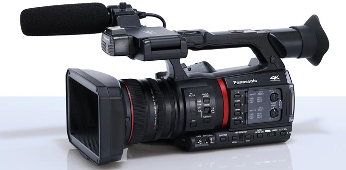 Side view of the Panasonic AG-CX350 camera