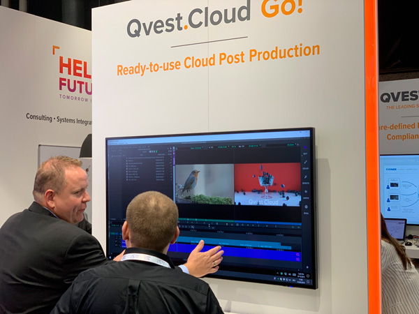 Qvest Cloud allows cloud editing in collaboration with Avid