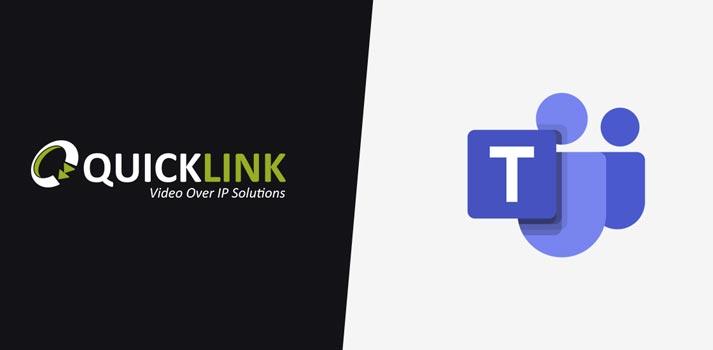 Logo of QuickLink and Microsoft Teams