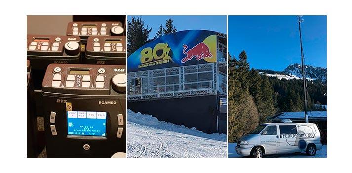 RTS ROAMEO deployed at Hahnenkamm alpine ski race