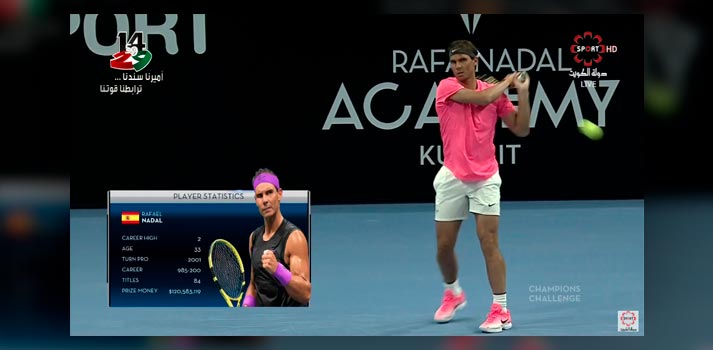 Rafa Nadal Academy broadcast with integrated AR Graphics