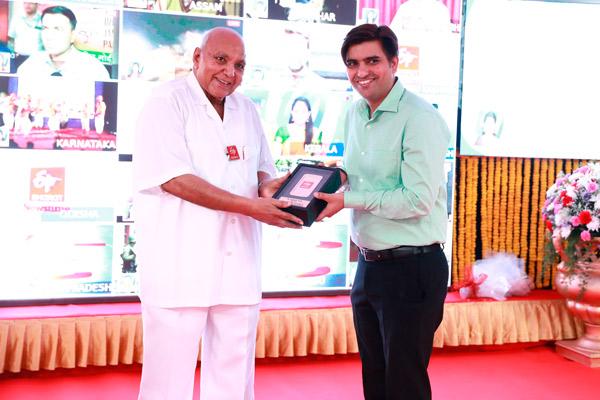 Ramoji Rao, chairman, in the ETV App Launch Ceremony
