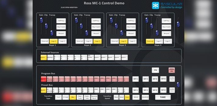 User interface of Ross' MC1 User Interface