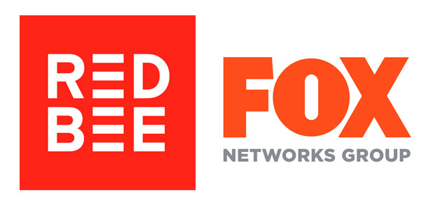 Logos of Red Bee and Fox Networks Group