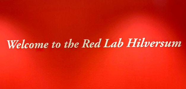 Welcome message at the Red Lab Hilversum facility