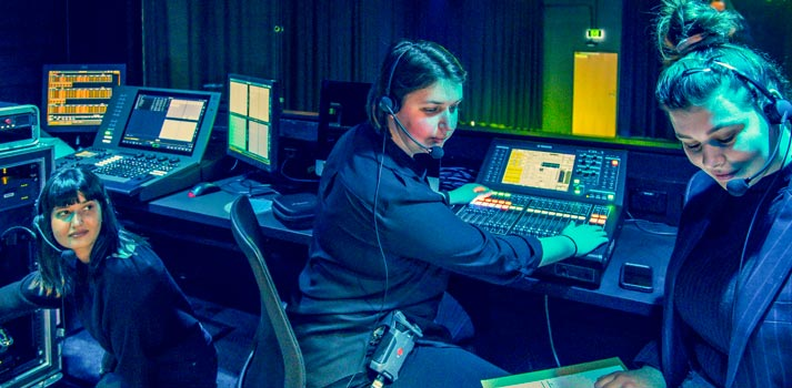 Students at Western Australia Academy of Performing Arts deploying Riedel's bolero solutions