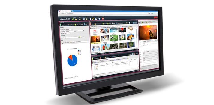 User interface of Ross Video's Streamline