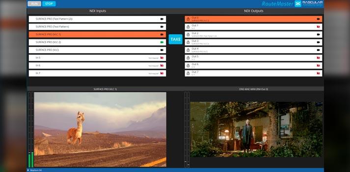 RouteMaster NDI June 2020 Update - User Interface