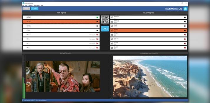 User interface of Rascular's RouteMaster Lite