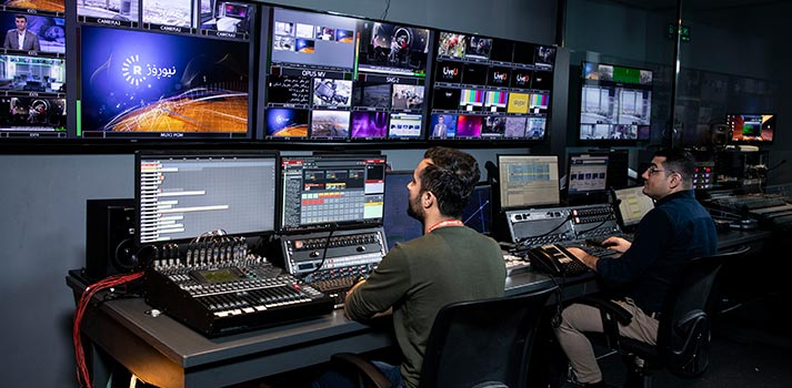 Control Room at Rudaw TV station boosted by Viz Opus