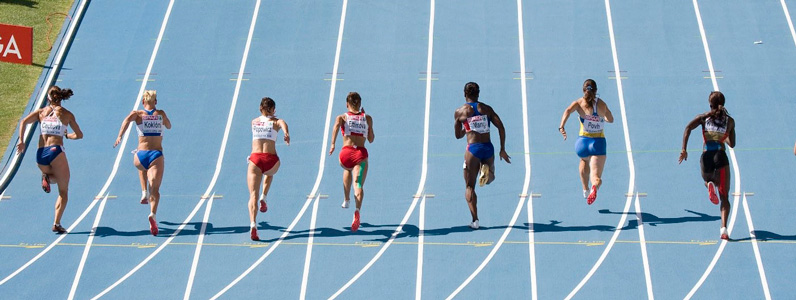 Competition in an olympic track