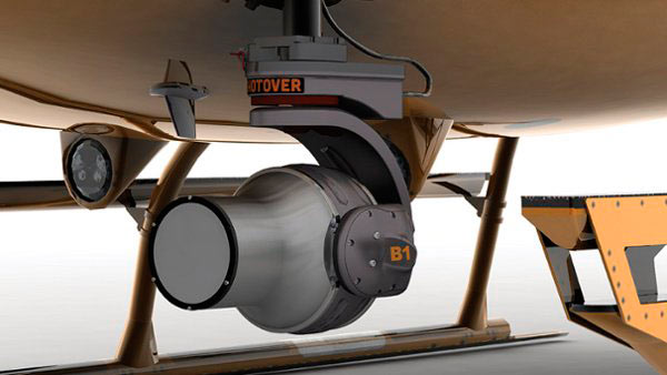 Render of Shotover B1 camera for Airbus H125 helicopter