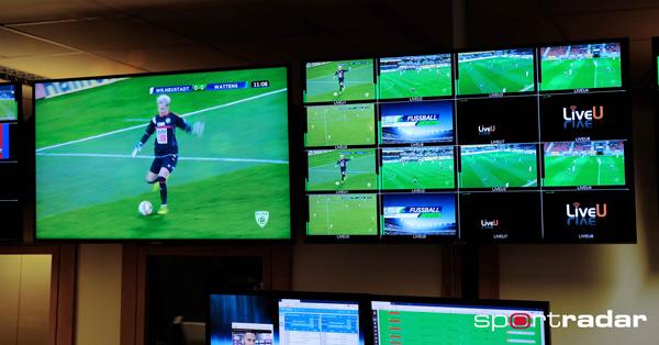 Control room of Sportradar deploying LiveU Technology