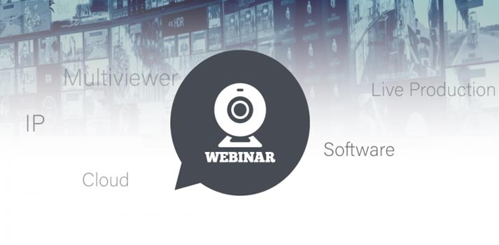 Promo pic of TAG Video Systems latest Webinar