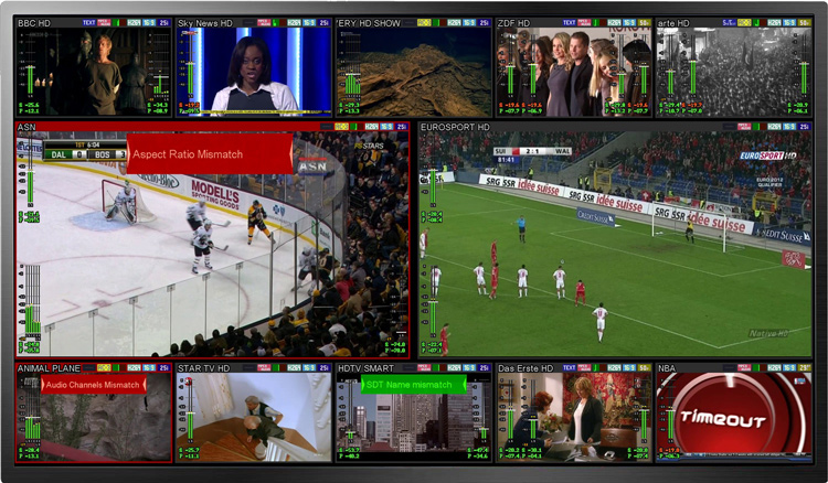 UI provided by the TAG Video System multiscreen platform